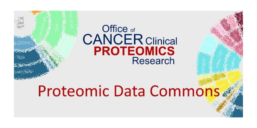 National Cancer Institute Office of Cancer Clinical Proteomics Research Proteomic Data Commons Logo