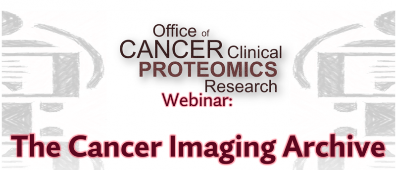 Banner for the NCI OCCPR-hosted Cancer Imaging Analysis Webinar