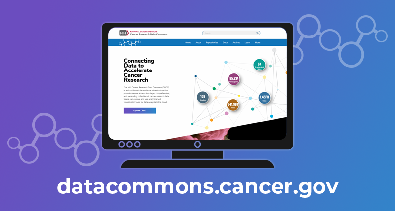 The NCI Cancer Research Data Commons (CRDC) is a cloud-based data science infrastructure that provides secure access to a large, comprehensive, and expanding collection of cancer research data. Users can explore and use analytical and visualization tools for data analysis in the cloud.