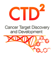 "Illustration of DNA strand dissolving into molecules. Text reads ""CTD2 Cancer Target Discovery and Development."""