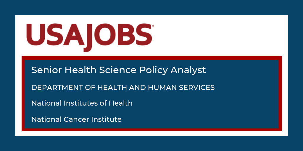 Senior Health Science Policy Analyst