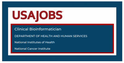 Apply by September 13 to Join NCI's Center for Biomedical Informatics and Information Technology as Clinical Bioinformatician